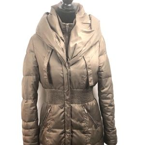 Laundry Shelli Segal Pillow Collar Olive Down Coat